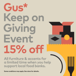 SALE – 15% off all Gus* Modern Furniture and Accents – Modern