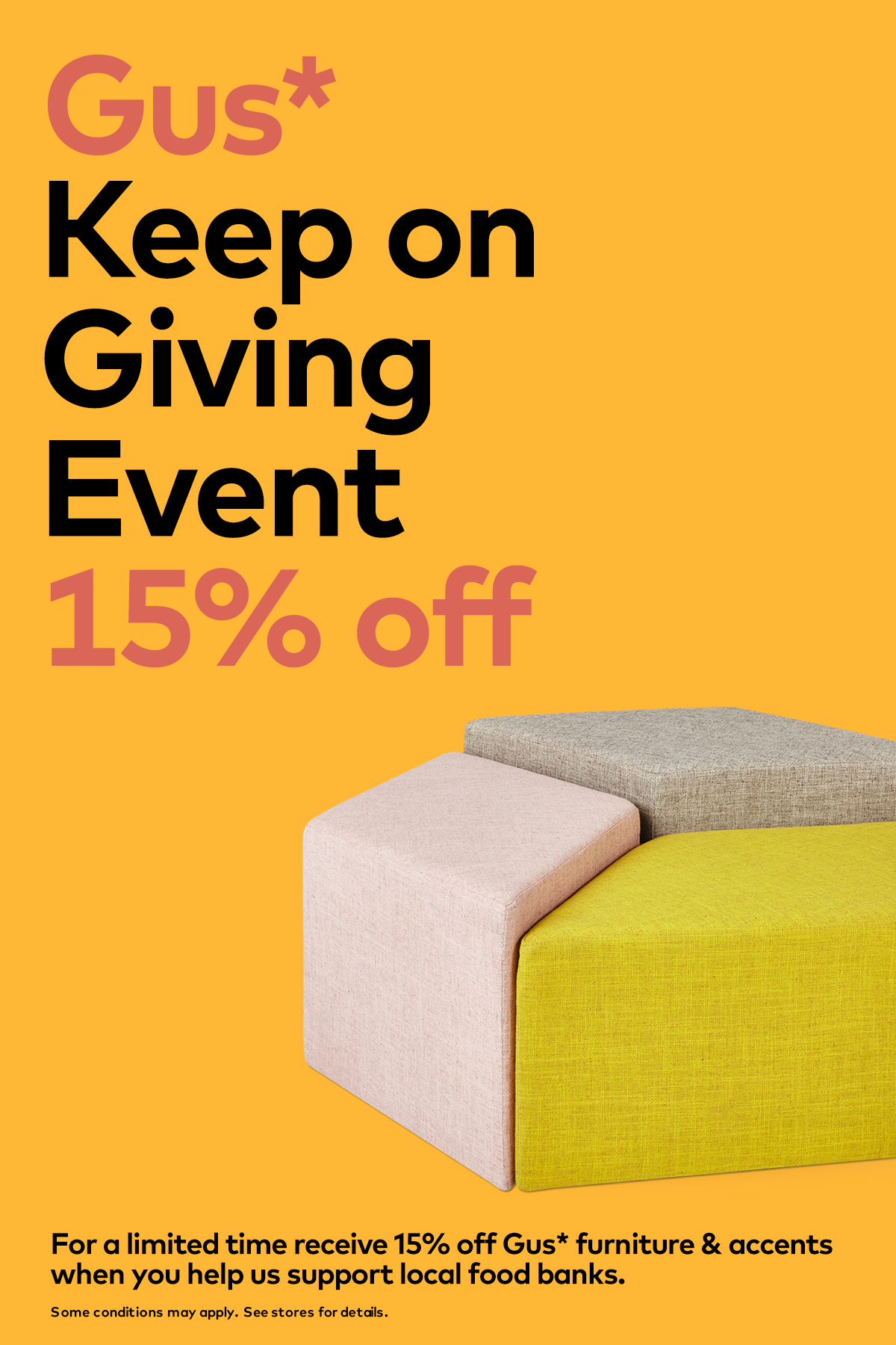 Sale 15 off all gus modern furniture and accents